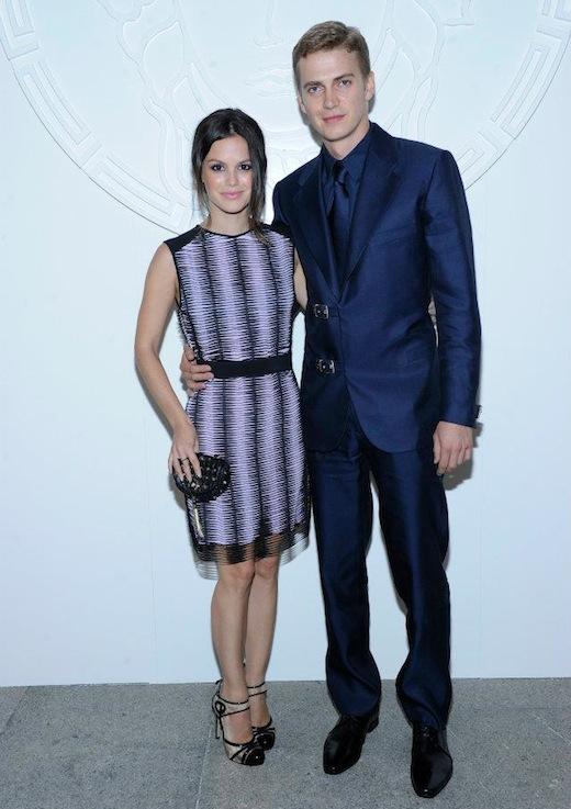 Rachel Bilson with Hayden Christensen Versace
